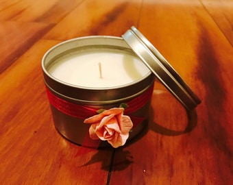 8oz Soy Candle Tin, Soy Candle, Soy Candle Handmade, Soy Candle Tin, Soy Wax Candle, Soy Candle Favor, Soy Candle, Soy Candles for Sale, Soy
