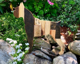 Boxer Dog Reclaimed Planked Wood Home Decor