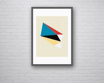 Prism Two: Geometric Graphic Design Art Poster