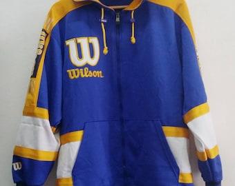 Wilson Hoodies Zip Vintage 90's wilson hoodies zip jacket Multicalored Design