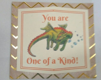 You are one of a kind / Have a Magical day boy or girl birthday card