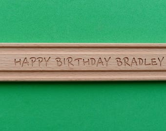 LONG Personalised BRIO Wooden Train Track