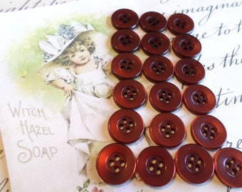 19 Copper/Rust Vintage Buttons 9/16 Inch for Sewing Crafts Scrapbooking Cardmaking Jewelry