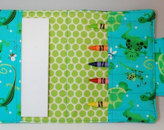 Crayon Wallet Frogs and Turtles