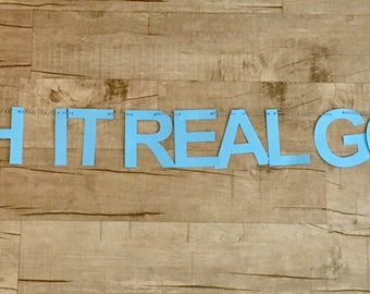 Push It Real Good - Baby Shower Banner in Pink, Blue, or Gold