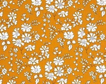 Liberty fabric Tana Lawn Capel G scrap - 13cm x 25.5cm  - Mustard (approx 5''x10'')
