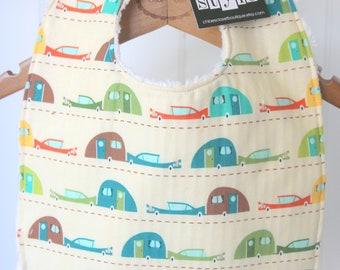 Baby Bib, toddler, infant, camper, camping, camp trailer, baby shower