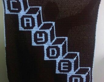 Diagnol Block Blanket