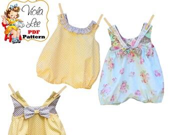 Baby Bubble Romper Pattern, Baby Sewing Pattern, pdf Girls Romper Pattern, Infant Romper Pattern, Infant Sewing Pattern, PDF Pattern Jillian