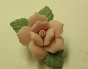 Vintage Delicate Floral Rose Brooch