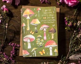 Mushrooms - Greeting Card