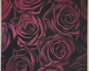 Original Rose Painting / Red Rose Painting / Realistic Rose Oil Painting / Oil Painting / Red Painting / Realism Oil Painting