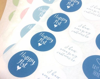 happy post sticker, mail stickers, packaging labels, packaging stickers, happy mail, envelope stickers, stickers