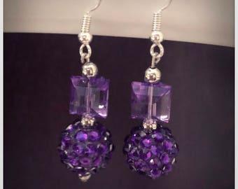 Purple Dangle Earrings