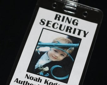 Ring Security Name Tag, Guest Relations, Bride Security, Secret Agent Badge, Ring Bearer Alternative, Ring Dude, Alternative Ring Bearer