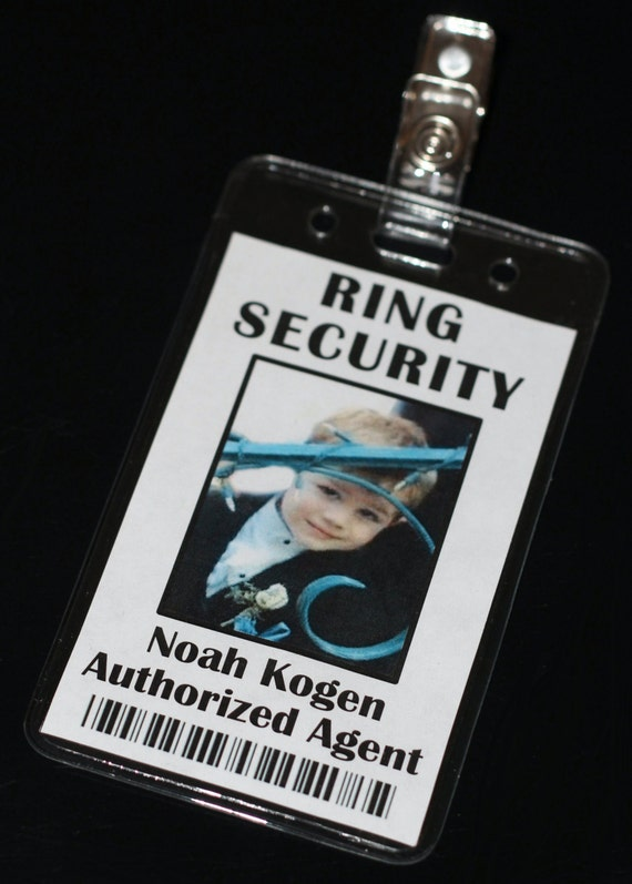 Ring Security Secret Agent Badge Ring Bearer Bling Security - Ring security badge template