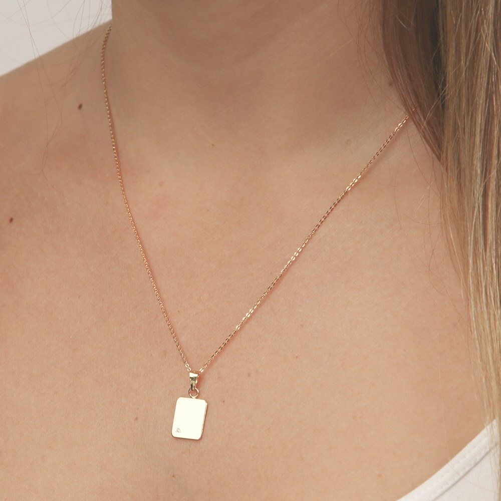 Vertical gold bar necklace dainty small layering necklace zoom aloadofball Image collections