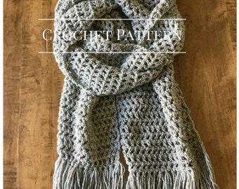 Crochet Pattern. Crochet Scarf Pattern. Crochet Scarf. Hensley Scarf. Crochet