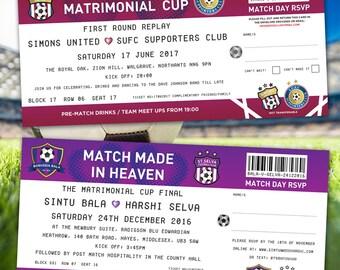 Football / Soccer Ticket Wedding Invitations