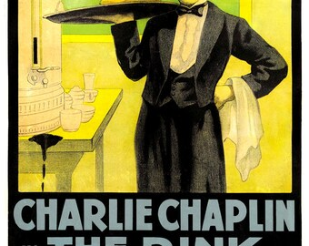 Charlie Chaplin Classic Comedy Movie Poster Print