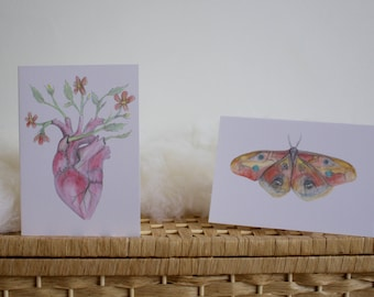 Set of two Art Cards