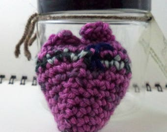 Heart in a Jar - Pink with Black/Gray Band (SWG-HT010)