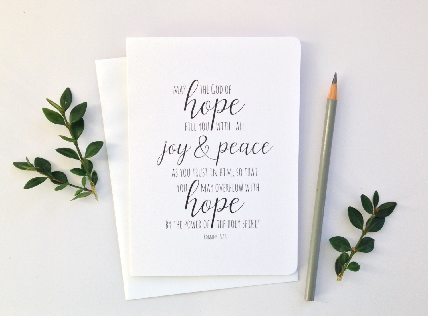 Greeting Card Hope May The God Of Hope Christian Greeting