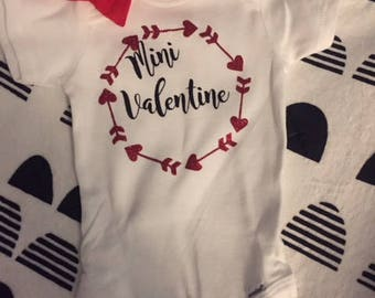 Mini Valentine Onesie, Baby Onesie, Gender Neutral, Positive Onesie, Baby Shower Gift, New Baby, Welcome Home Gift, Gift For Her