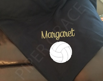 Volleyball blanket etsy volleyball blanket volleyball gift ideas volleyball coach gifts stadium blanket volleyball team negle Images