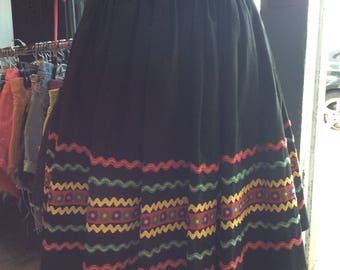 XXL Black Cotton Rick Rack Trim Skirt Ric Rac Patio 34 w
