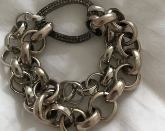 10mm or 8mm silver rolo chain, 2 feet included, silver rolo link chain, for medium to large pendants, not too shiny! Silver link chain