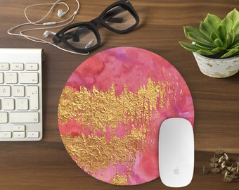 Mouse Pad Gold, Mousepad Funny, Mouse Mat Mouse Pad Office Mousemat Rectangular Mousemat Mousepad PINK design mouse pad-T80644