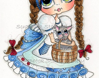 INSTANT DOWNLOAD Digital Digi Stamps Big Eye Big Head Dolls Digi   Besties Besties Of Oz IMG639 By Sherri Baldy