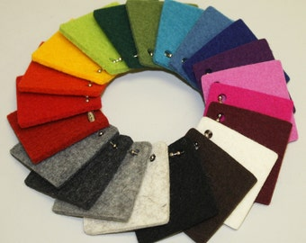 3mm Virgin Merino Wool Felt Samples