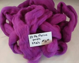 Purple merino Roving
