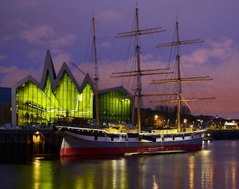 Riverside Museum and Tall Ship, River Clyde.