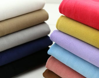 Cotton Corduroy Fabric with Stretch, Soft Fine 21 Wale , Heavy Weight, White Gray Khaki Black Blue …12 solid colors available - 1/2 yard