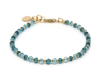 Blue Topaz & London Blue Topaz bracelet.