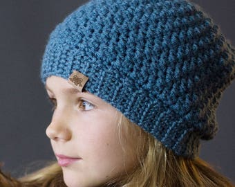 CROCHET PATTERN - Crochet Voyager Beanie Pattern - Crochet Beanie Pattern - Crochet Pattern for Newborn to Adult - Instant PDF Download