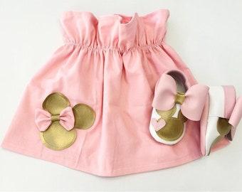 Vintage pink minnie SKIRT