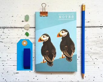 Puffin Notebook - A6 Notebook - Puffin - Bird Notebook - Notebook - Birthday Gift - Stocking Filler - Stocking Stuffer - Lined