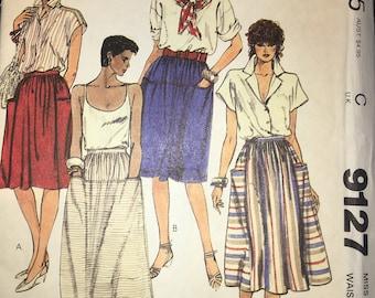 McCall's 9127 Gathered Skirt 1984