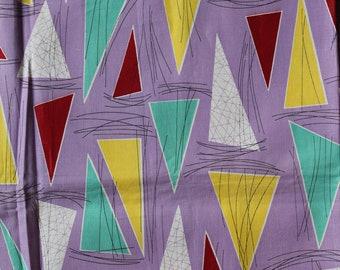Fabric Barkcloth Triangles Panel