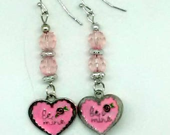 Be Mine Pink Valentine's Earrings