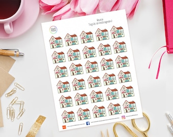 House Planner Stickers for Erin Condren, Happy Planner, Kikki K, Travelers Notebook, Bujo, Filofax, Home, Chores, At Home, Work