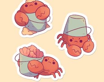 Crabby Bucket Baby Sticker Set
