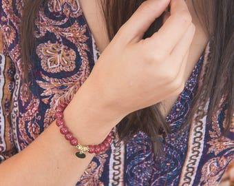 Bracelet. BURGUNDY