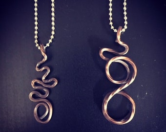 Copper Wire Pendants