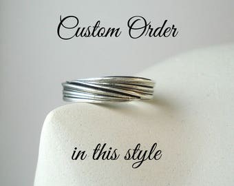 custom mitsuro band ring in sterling silver