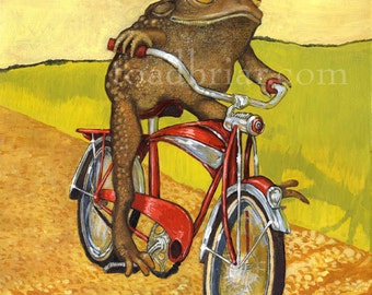Bike Toad Signed Print